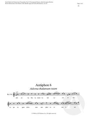 Antiphon 6:  Adorna thalamum tuum