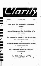 Clarity (periodical), Vol. 3 no. 1, Winter Issue, 1942, Clarity, Vol. 3 no. 1, Winter Issue, 1942