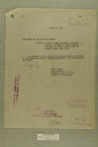 Memo Dated March 12, 1919 from Henry Jervey re: Letter of Elmer E. Cooley, Nogales, Arizona, in Regard to Battle Between Mexicans and United States Troops at Nogales on August 27, 1918