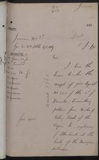 Draft Memo re: Complaints by Caymans Fishermen on Ill Treatment at Hands of Nicaraguan Government, January 11, 1898