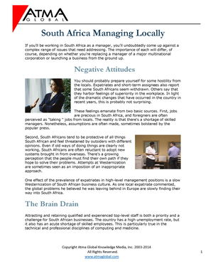 South Africa Managing Local Companies | Alexander Street, a