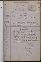 Correspondence Cover Sheet re: Cayman Islanders Fishing in Cuban Waters, July 18, 1893