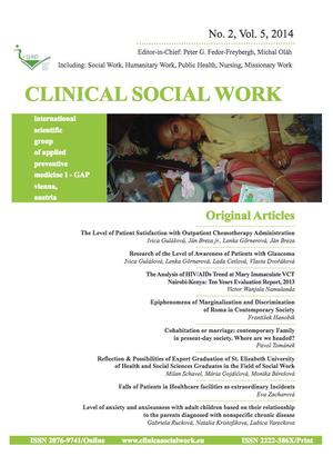 Clinical Social Work and Health Intervention, No. 2, Vol. 5, 2014, Clinical Social Work, No. 2, Vol. 5, 2014