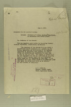 Statement of Duties, Southern Department, in Connection with Border Patrol, June 8, 1920