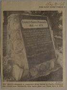His Grave: Charley Darkey Parkhurst (1812-1879), November 1969