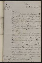 Letter from Consul General Gollan to Marquis of Salisbury, October 31, 1897