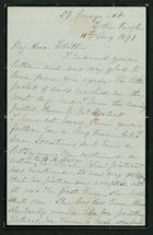 Letter from Elizabeth Gray to Edith Thompson, August 11, 1891