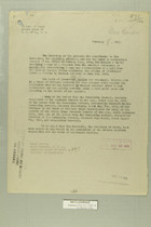 Memo from Henry Jervey to the Secretary of State, February 8, 1919