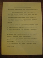 Public Health Service Special Announcement, November 1, 1960