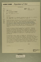 Telegram from Raymond A. Hare to Secretary of State, March 19, 1954