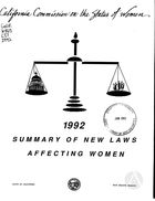 1992 Summary of New Laws Affecting Women