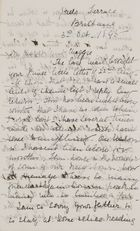 Letter from Jessie Love to Maggie Jack, October 3, 1895