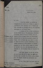 Letter from A. Percy Bennett to Earl Curzon of Kedleston re: Strike by Coloured Employees of Panama Canal, March 11, 1920
