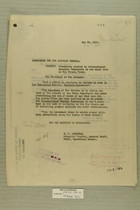 Permission Granted to International Boundary Commission to Use Small Boat on Rio Grande River, May 29, 1919