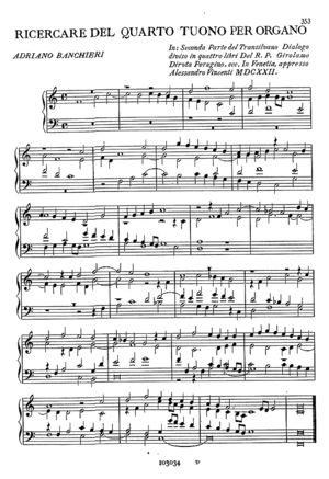 Ricercare del Quarto Toni per Organo