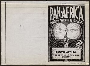 Pan-Africa: Journal of African Life and Thought, Vol. II, No. 3-4