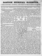 Boston Musical Gazette, Vol. 1, no. 2, May 16, 1838