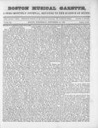 Boston Musical Gazette, Vol. 1, no. 1, September 19, 1838