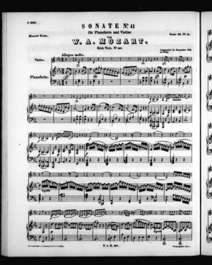 Sonate No. 41 für Pianoforte und Violine, K. 481, E Flat Major