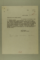 Memo from Peyton C. March to the Adjutant General, April 23, 1918