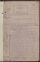 Colonial Office Correspondence Register, re: Letter from Governor Probyn on Emigration from Barbados, with Related Minutes, July 25, 1911