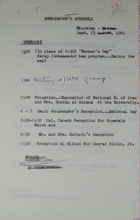 Ambassador's Schedule and Ambassador and Mrs. Meyer's Social Calendar for September 23, 1965
