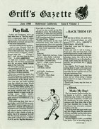 Griff's Gazette, Volume 2, Issue 6, June 1988