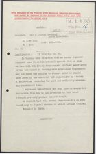 Confidential Decypher from Sir J. Jordan to United Kingdom Foreign Office re: Protection for Military Governor, February 23, 1916
