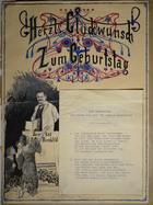 Magnus Hirschfeld Scrapbook: Herzt Glückwunsch Zum Geburtstag