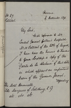 Letter from Cecil Gosling to the Marquess of Salisbury, December 2, 1896