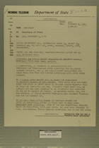 Telegram from William L. Hamilton, Jr. in Jerusalem to Secretary of State, December 6, 1963