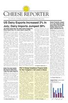 Cheese Reporter, Vol. 139, No. 11, Friday, September 5, 2014