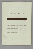 The Aftermath: A Playlet for the Week of Prayer, Following the World's Conference, 1914