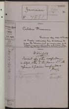 Correspondence Cover Sheet re: Culebra Massacre, April 23, 1887