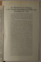 Als Material für den Reichstag zu den Kapiteln Entmündigungsschwindel und absschaffunt des 175