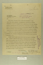 Letter from Newton D. Baker to the Secretary of State, Oct. 30, 1919