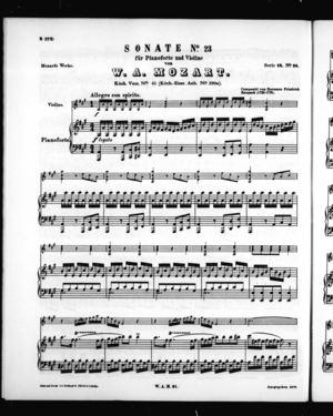 Sonate No. 23 für Pianoforte und Violine