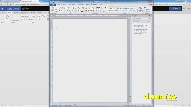 Office 365 For Dummies Course Creating Documents With Word Online