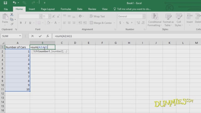 Excel 2016 For Dummies User Basics Course, Entering Text in