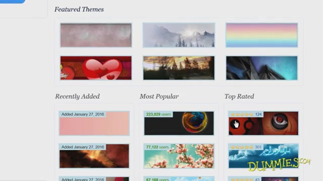 Changing the Look of Firefox with Themes