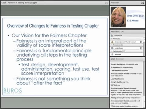 Fairness in Testing: The Standards for Educational and Psychological Testing