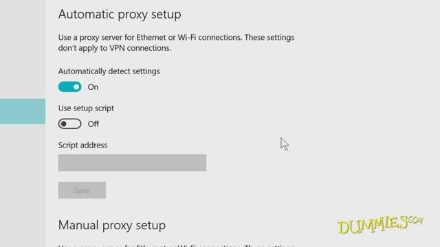 network proxy setting windows 10