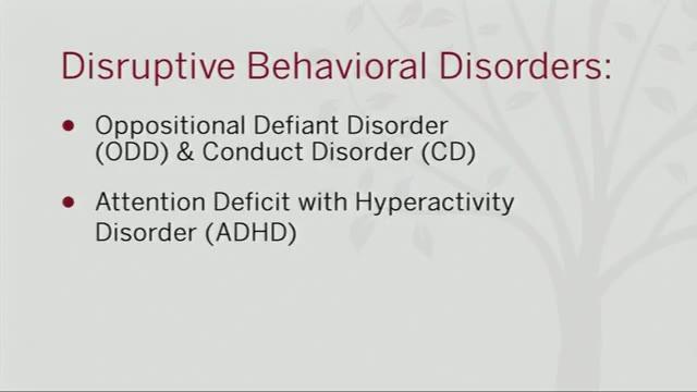 Diagnosing Disruptive Behavior Disorders Alexander Street A