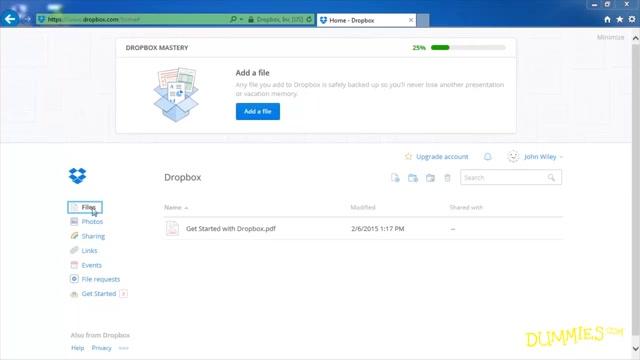 Uploading Files to Dropbox