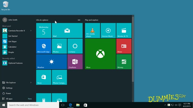 Windows 10 For Dummies Organizing Files Apps Course Grouping